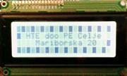 DISPLAY LCD 4X20 2004A (HD44780) Z OSVETLITVIJO MODRO/BEL